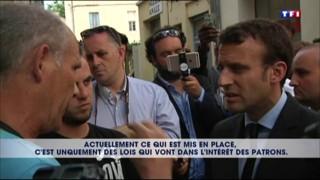 """Emmanuel Macron : """"Le meilleur moyen de se payer un costard, c'est de travailler"""""""
