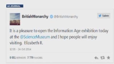 La reine Elizabeth II tweete pour la première fois