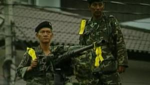 LCI-TF1, des militaires à Bangkok