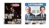 Hollande et Le Pen font les gros titres