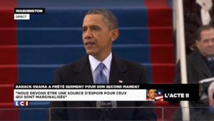 DOCUMENT - Le discours d'investiture d'Obama en intégralité