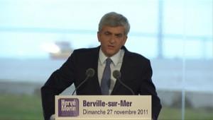 Hervé Morin annonçant sa candidature à la présidentielle (27/11/2011)