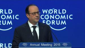 Le 20 heures du 23 janvier 2015 : Hollande appelle à la responsabilité des Etats à Davos - 644.9539999999998