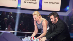 Le binme Elodie Gossuin et Laurent Ournac - Money Drop Spcial Secours Populaire, le vendredi 12 avril 2013  20h50 sur TF1 et MYTF1