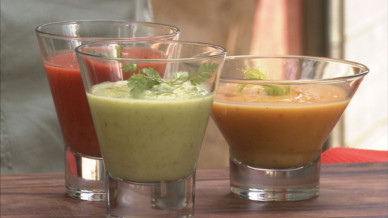 Trio de gaspacho &amp;agrave; la tomate