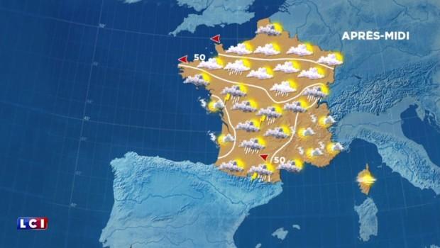 La météo du mercredi 25 mai : quelques éclaircies, des orages dans le centre et l'ouest