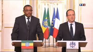 """Le 13 heures du 19 avril 2013 : Fran�s Hollande sur les otages lib�s : """"Une heureuse nouvelle"""" - 214.665"""