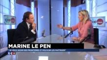 """Marine Le Pen : """"Je veux avoir des frontières, je veux les maîtriser"""""""