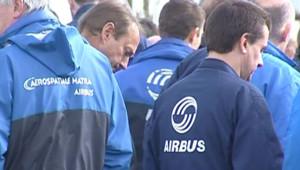 """Salariés d'Airbus après l'annonce du plan """"Power 8"""""""