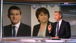 Le 20 heures du 7 septembre 2014 : Hollande Martine Aubry serait-elle la solution ? - 594.155