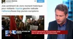 Sur les réseaux sociaux, Syriza partage ses images de liesse