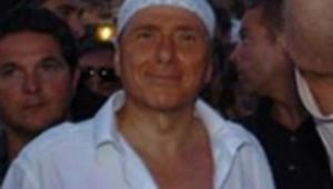 Berlusconi_bandana blanc