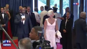 Christine Lagarde très en beauté au dîner de Barack Obama