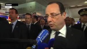 François Hollande à Roissy (18 avril 2013)