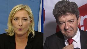 Marine Le Pen et Jean-Luc Mélenchon.