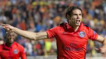 Edinson Cavani marque pour le PSG face à Nicosie, 21/10/14