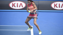 Marion Bartoli méconnaissable au Tournoi des Légendes à l'Open d'Australie.