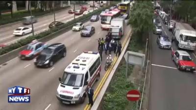 A Hong Kong, près de 2 millions de dollars sur la chaussée