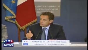 """Sarkozy dénonce """"la démission"""" des juges de Bobigny"""