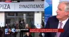 Barnier craint une spirale encore plus négative pour la Grèce