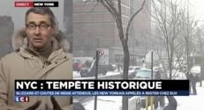 """Circulation interdite, magasins dévalisés... New York se prépare à la """"tempête du siècle"""""""