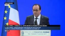 """Hollande cite Chirac sur le climat : """"Je crains que la maison (qui brûle) ne se soit entièrement consumée"""""""