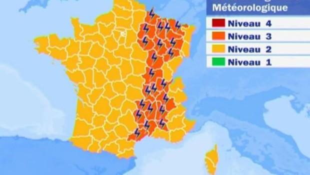 TF1/LCI Carte vigilance aux orages