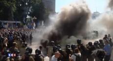 Ukraine: une dizaine de blessés après une explosion devant le parlement
