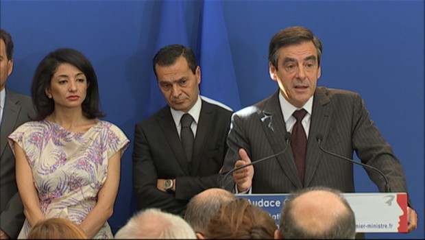 Franois Fillon lors de son discours  Matignon pour la remise des prix de l&#039;audace cratrice (22 septembre 2011)