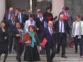 La sortie du conseil des ministres le mercredi 1er avril.