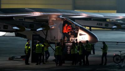 Les pilotes avant le décollage du Solar Impulse 2.