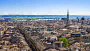 Une vue de la ville de Bordeaux