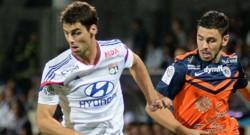 Yoann Gourcuff lors de Lyon-Montpellier (5-1) le 20 octobre 2014.