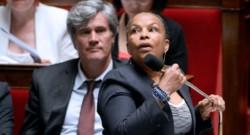 Christiane Taubira et Stéphane Le Foll à l'Assemblée nationale