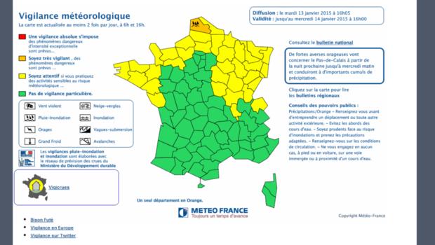 Le département du Pas-de-Calais a été placé en alerte orange pluie-inondations ce mardi 13 janvier