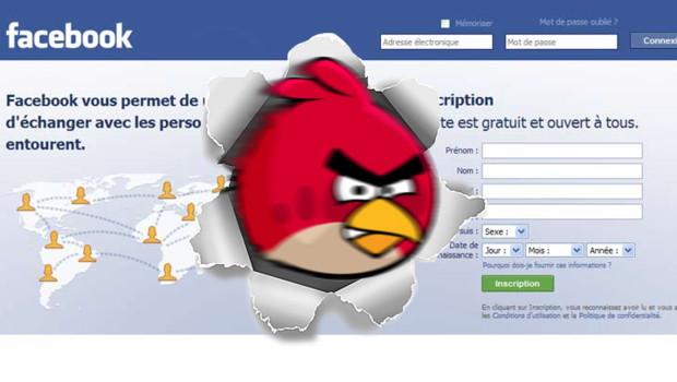 """Les """"Angry Birds"""" débarquent sur Facebook"""