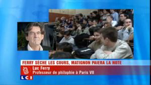 "Luc Ferry : ""C'est diffamatoire !"""