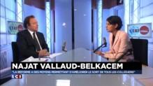 """Réforme des collèges :""""Nicolas Sarkozy n'a aucune leçon à donner"""" selon Najat Vallaud-Belkacem"""
