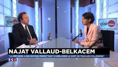 """Vallaud-Belkacem : """"Nicolas Sarkozy n'a aucune leçon à donner en matière d'éducation"""""""