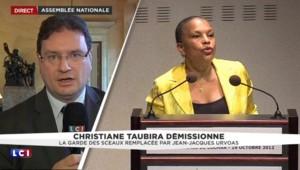 """Démission de Taubira : """"Elle sera plus encombrante à l'extérieur du gouvernement"""""""