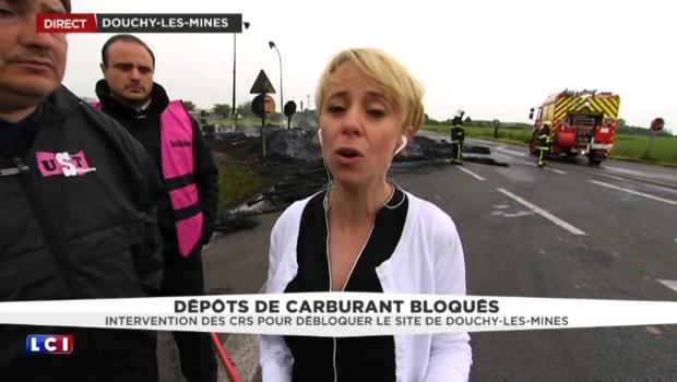 """Le dépôt de Douchy débloqué par les CRS : """"Il y avait presque une voiture pour chaque manifestant"""""""