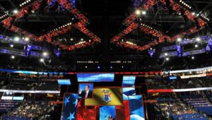 Salle principale de la convention républicaine à Tampa, 28 août 2012