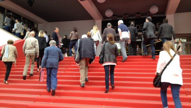 Sur la croisette pendant le Festival de Cannes 2012