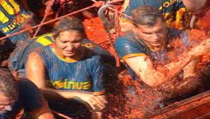 Bataille géante de tomates en Espagne