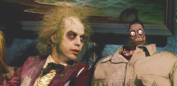 Beetlejuice avec Michael Keaton. Un film de Tim Burton.
