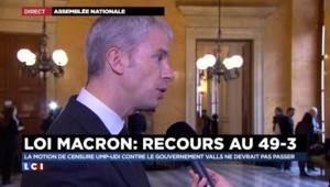 """Franck Riester : """"la loi Macron est dangereuse"""""""