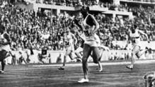 Jesse Owens aux JO de Berlin en 1936