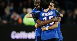 Les Monégasques se congratulent : vainqueurs de Lorient (1-0) lors de la 38e et dernière journée de L1, ils ont validé leur billet pour la C1.