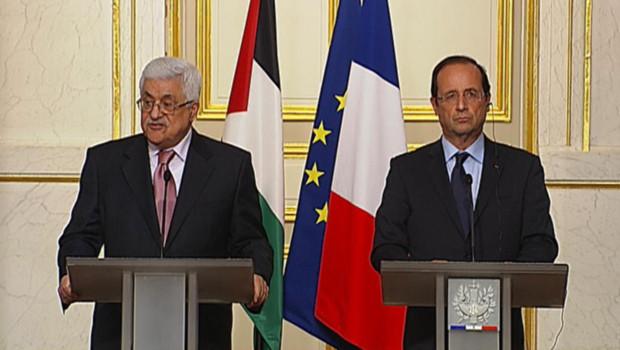 Mahmoud Abbas et François Hollande, à l'Elysée, le 8/6/12