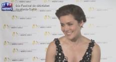 """Megan Boone, Elizabeth Keen dans """"Blacklist"""", lors du 54e Festival de télévision de Monte-Carlo, en juin 2014."""